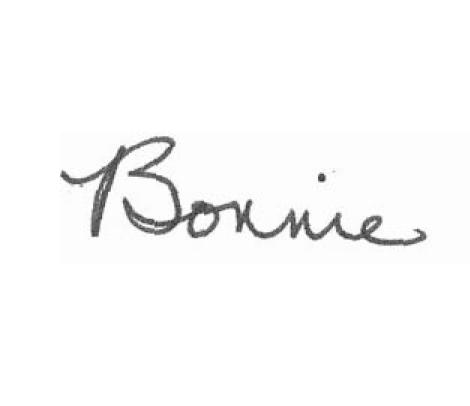 Bonnie's signature