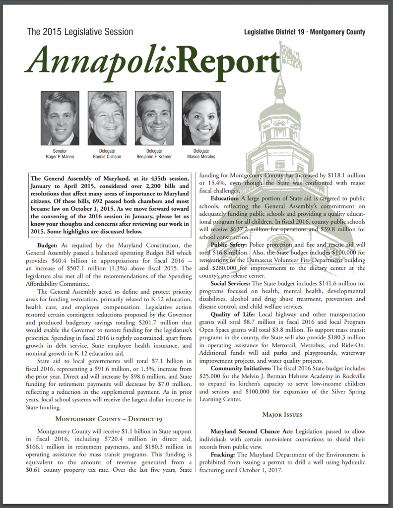 Thumnail image of the annapolis Report